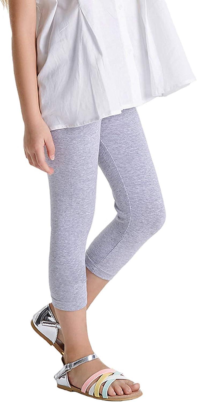Hello Bee Girls Leggings Black Leggings Knit Cotton Pants for Toddler//Kids School or Play