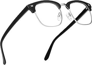 URUMQI Blue Light Blocking Glasses, Anti Eyestrain Computer Gaming Glasses for Men & Women, Non-Prescription Semi-Rimless ...