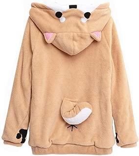 Girls Cute Shiba Inu Hoodie Sweatshirt Pullover