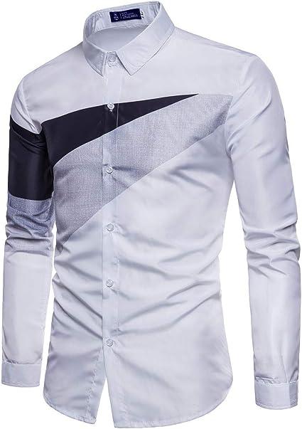ZODOF camisa hombre camisas sport Casual Pure Color ...