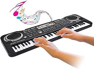 Pianoforte Elettronico 61Key Tastiera Elettronica Digitale per Pianoforte con Microfono Spina UE Insegnamento Interattivo ...