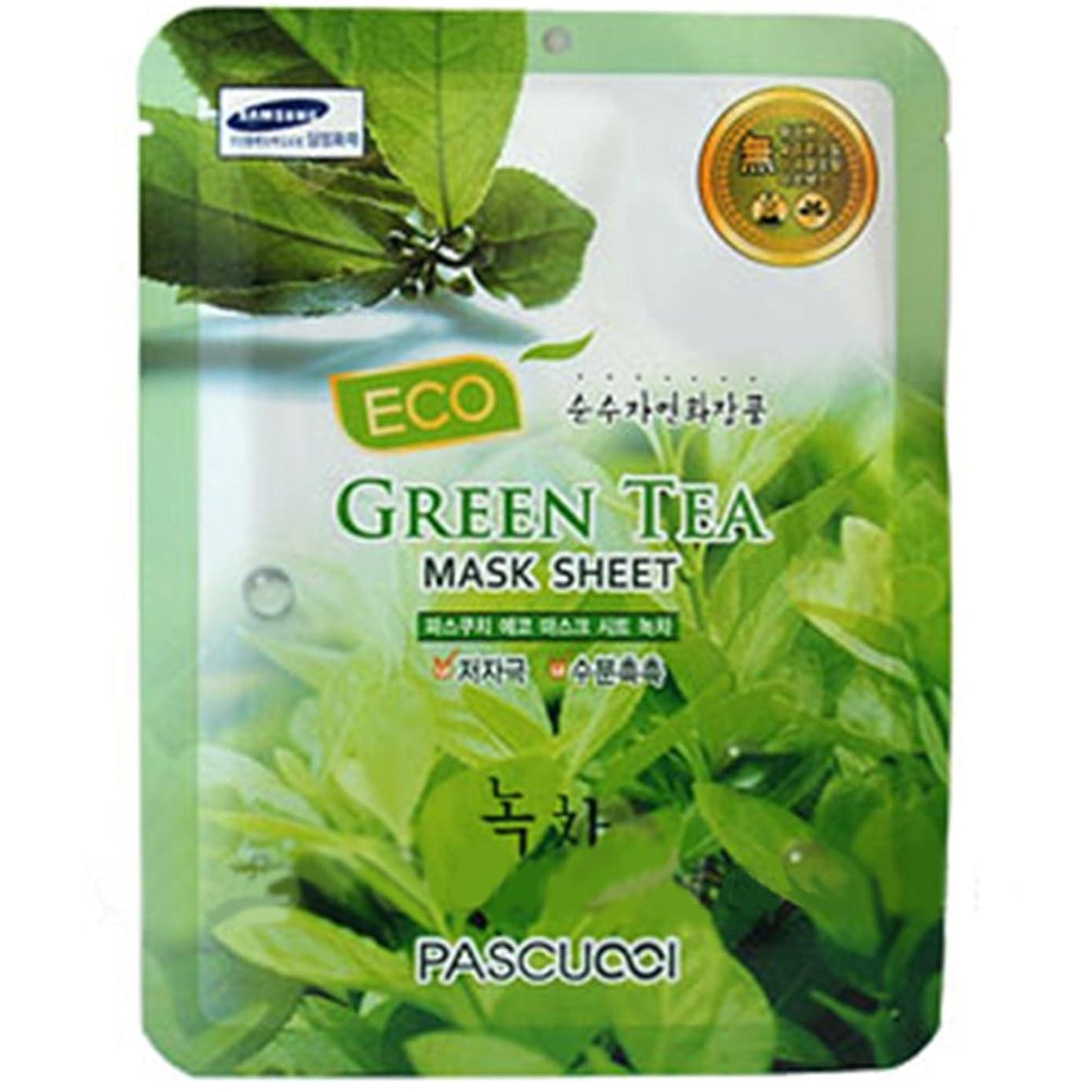 同僚凶暴な護衛PASCUCCI Green Tea Mask 10 Sheets 緑茶マスク CH1292449 [並行輸入品]
