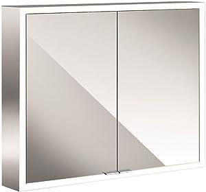 Emco Asis LED Specchio Armadio Prime, AP 800mm, 2Ante, Parete Specchio