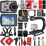 VEHO MUVI K-Series K-2 Pro 4k 16MP Wi-Fi Sports Action Camera w/ 24GB 28PC Bundle - Window Mount - Helmet Mount - Opteka X-Grip Action Handle - High Power LED Video Light and Much More