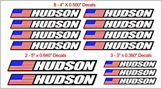 13 Piece Custom Bicycle Frame Name USA Decal Sticker Set - Road Bike Cycling Mountain Bike - Black Background