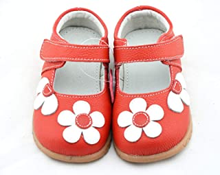 SandQ baby Girls Red Leather Shoe