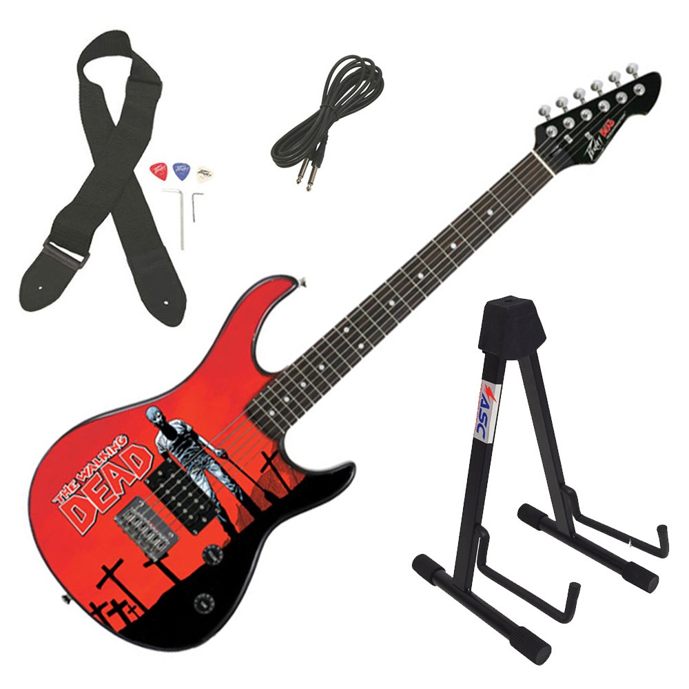 Cheap Peavey Rockmaster The Walking Dead - Grave Digger Rick Electric Guitar & Stand Black Friday & Cyber Monday 2019