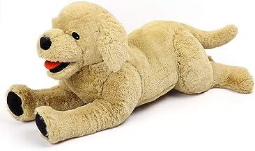 LotFancy Peluche Perro Golden Retriever, Peluches Gigantes Beige Suave y Seguro, Sentirse Cómodo Juguete Mejor Regalo para Niños, Parejas, Mascotas y más Beige (52.8cm)