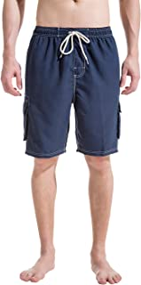 Akula Men's Swim Trunks Quick Dry Beach Board Shorts with Cargo Pockets