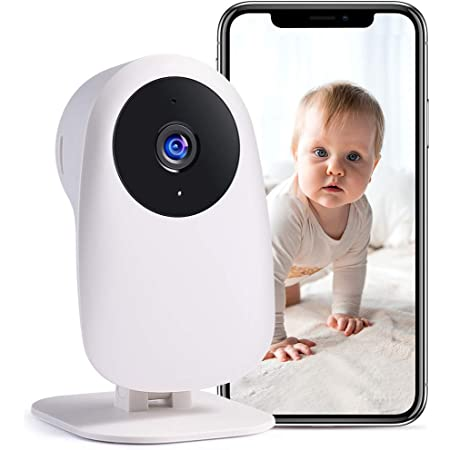 nooie Baby Monitor with Camera and Audio 1080P Night Vision Motion and Sound Detection 2.4G WiFi Home Security Camera for Baby Nanny Elderly and Pet Monitoring, Works with Alexa