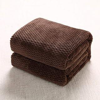 【mofua】オールシーズン 暖かい 軽い 毛布 フランネル マイクロファイバー 柔らかく肌触り 洗える シングル 敷きパッド 保温力 暖かい ひざ掛け 掛け毛布 ブラウン