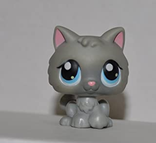 Kitten #66 (Gray, Blue Eyes) - Littlest Pet Shop (Retired) Collector Toy - LPS Collectible Replacement Single Figure - Loose (OOP Out of Package & Print)