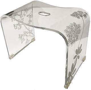 センコー サリナ 2 バスチェア 風呂椅子 高さ約 30cm クリア 約38.5×25×高30cm 60435