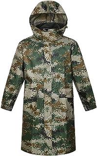 BGROESTWB Snow Rainwear Men's Long Lightweight Waterproof Raincoat Reflective Safety Raincoat Hooded Work Outdoor Activity...
