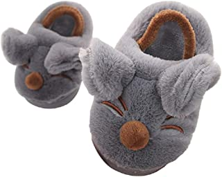 Toddler Mouse Slippers Girls Boys Cute Cartoon Fleece Elastic Band