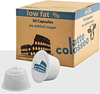 Latte Colosseo - 50 Capsules Compatibles Dolce Gusto (Lait Écrémé, 50 Capsules, 50 Portions)