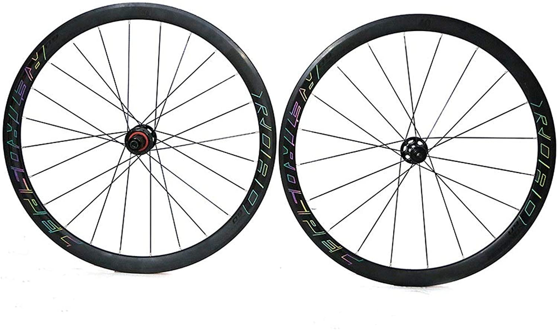 26  Road Bike Wheelset, Double Wall MTB Rim Sealed Bearings Hub Quick Release 8 9 10 11Speed Black 700C