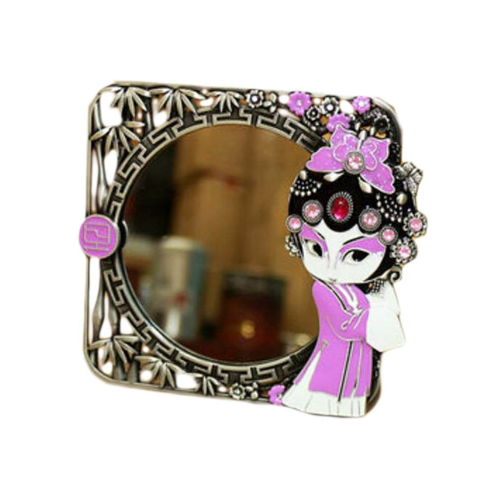 Max 58% OFF Chinese Cheap mail order sales Style Beijing Opera Make Cosmetic Creative Mirror Orn Up