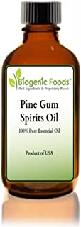 Pine Gum Spirits - 100% Pure Essential Oil of Pine Tree (NOT Rectified Paint Grade) ING: Organic Oil, 4 oz
