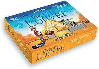 Escape box - Enquête au Louvre – Escape game enfant de 2 à 5 joueurs avec 40 cartes, 1 livret, 1 poster et 1 bande-son – À...
