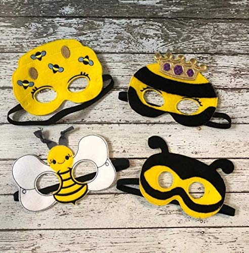 Theater Costume Bumblebee Children/'s Mask Face Mask Halloween Pretend Play Party Favor Dress Up
