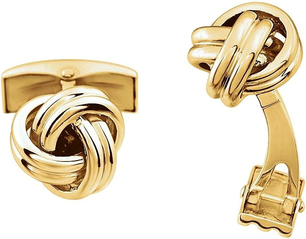 Forever Surprise price Love Omaha Mall Knot Infinity Twist Promise Cuff Links 12m Width =