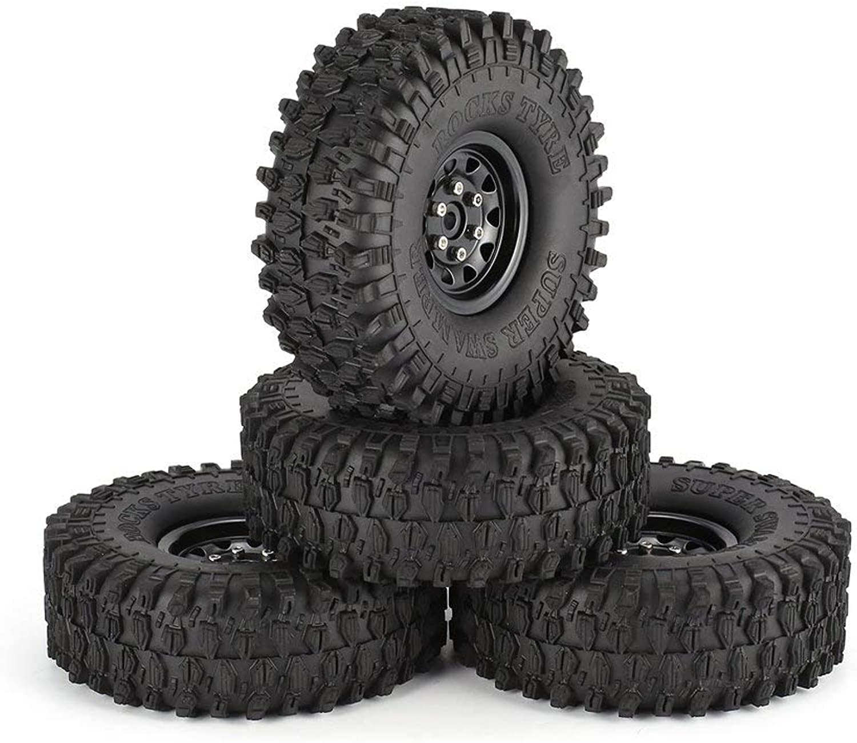 Sairis 4pcs 1,9 Zoll 120mm Gummireifen Reifen mit Metallfelge Set für 1 10 Traxxas TRX-4 SCX10 RC4 D90 RC Crawler Autoteil (schwarzes Rad) B07MNSHT9D  Verkaufspreis     | Roman