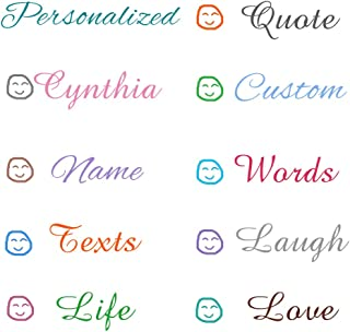 Zunniu Personalized Customize Name Text Quote Vinyl Sticker Decal Babys Kids Bride Groom Pets Name Wall Stickers Wall Decals for Kids Romm Home Art Decor