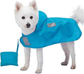Blueberry Pet 2020 New 7 Patterns Lightweight Packable Reflective Dog Raincoat or Poncho