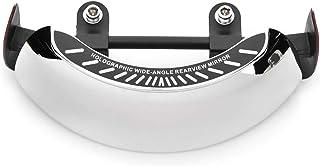 KIMISS Specchietto retrovisore olografico per moto specchietto retrovisore cromato 180 Supporto per parabrezza centrale ultra grandangolare universale