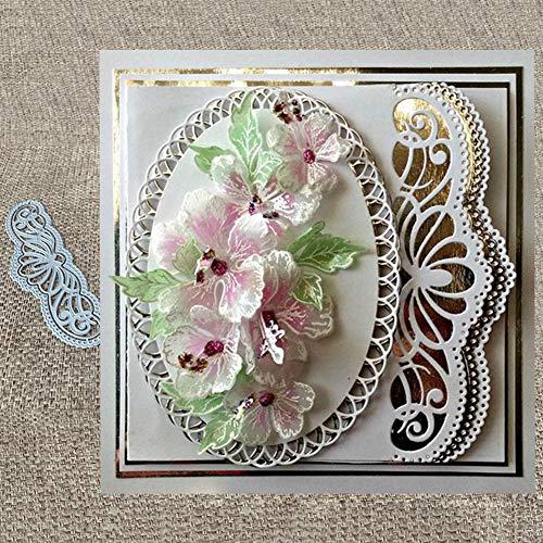 Zhouba Metall-Stanzformen für Kartenherstellung, Spitze, hohl, für Scrapbooking, Papier, Karten, Fotos, Dekoration, Schablone – Silber