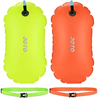 JOTO [2 Pack] Swim Buoy Float, Swimming Bubble Safety Float with Adjustable Waist Belt for Open Water Swimming, Safe Swim ...