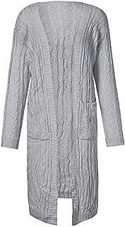 Bravetoshop Womens Cardigans Top, Long Sleeve Lightweight Draped Open Front Pockets Warm Coat