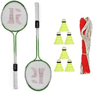 Zorax Phantom Double Shaft Multi Color Complete Badminton Kit for Indoor and Outdoor Playing