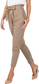 BerryGo Women's Casual Loose High Waist Stretchy Skinny Slim Long Pants