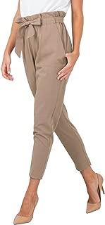 BerryGo Women's Casual Loose High Waist Stretchy Skinny Slim Long Pants