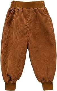 Unisex Kids Corduroy Pants Toddler Baby Boys Girls Loose Casual Fit Harem Pant