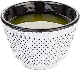 Restaurantware RWM0076W Tetsubin 4 oz White Cast Iron Tea Cup Hobnail 3
