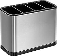 ODesign gebruiksvoorwerp Crock Houder Caddy Organizer 4 Divider Druppelbak voor Keuken Aanrecht Roestvrij Staal ABS Antisl...