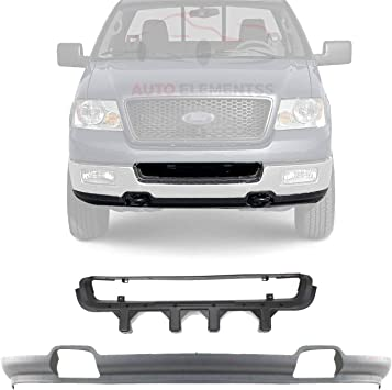 Amazon Com New Front Lower Valance Primed With Fog Light Holes Bumper Center Grille Textured For 2004 2005 Ford F 150 4wd Direct Replacement 4l3z17626bab 5l3z17b968aa Automotive