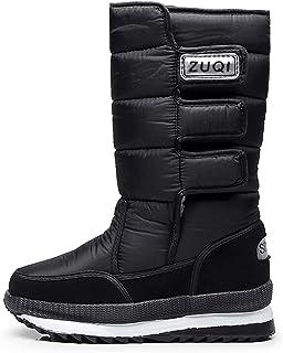 Willsky Bottines Pour Hommes, Bottes Chaud Grande Taille Moyenne Tube Non-Slip Chaussures En Coton Imperméable Convient Po...