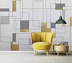 Papel tapiz mural decoracion mural Pared del fondo del dormitorio del patrón de mosaico de oro geométrico minimalista moderno Fondos de pantalla 3D Mural Forest Wallpaper