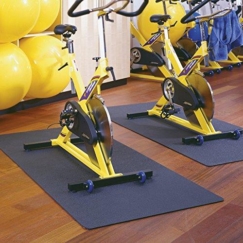 Uni Unterlegmatte 70x130cm schwarz Matte Bodenmatte Schutzmatte Fitness