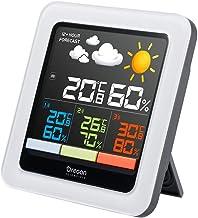 Oregon Scientific RAR502SX - Estación meteorológica multizona, temperatura interior exterior, humedad interior exterior, 4 zonas, pantalla LCD a color blanco