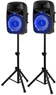 "VONYX Vch122A Pack Enceintes Actives 12"" (30cm) USB SD MP3 Bluetooth 800W"