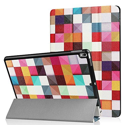 HBorna Funda para Apple iPad Pro 10.5 Case Cover con [Auto Sueño/Estela], Smart Carcasa Funda para Nuevo iPad Pro 10,5 Pulgadas 2017 New Tablet Case Cover, Cubo de Rubik