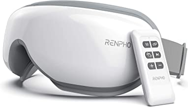 RENPHO [Updated] - Eye Massager with Remote Control & Heat, Compression Bluetooth Music Rechargeable Eye Th...