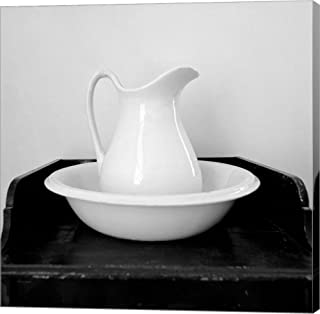 Wash Basin Circa 1865 by Harold Silverman Canvas Art Wall Picture, Gallery Wrap, 12 x 12 inches