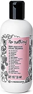 No Nothing Very Sensitive Color Shampoo - 100% Vegan, Hypoallergenic, Fragrance Free, Paraben Free – 10.15 oz