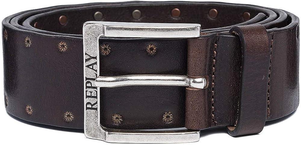 Replay ,cintura per uomo,in vera pelle AM2581.000.A3007